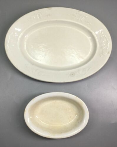 Royal Ironstone China Alfred Meakin England - Platter and Sauce Dish