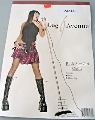 Leg Avenue Rock Star Girl Costume Small Sexy Singer Fancy Dress Cosplay ()