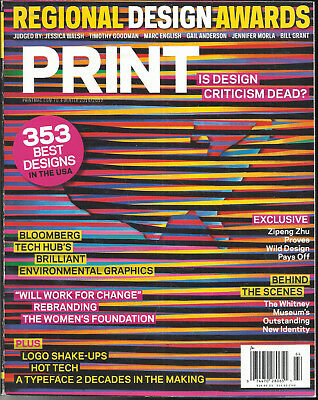 PRINT,   353 BEST DESIGNS IN THE USA  REGIONAL DESIGN AWARDS  WINTER 2016 / (Best Magazines In Usa)