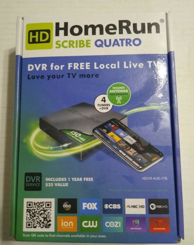 SiliconDust HDHomeRun SCRIBE QUATRO 1TB DVR - Free Over the Air TV