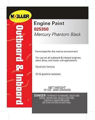 Moeller Marine Outboard Engine Paint Mercury Phantom Black 12 oz. - 25350