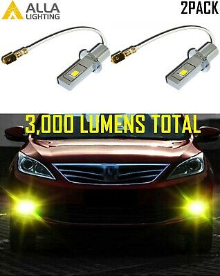 Alla Lighting H3 LED Driving Fog Light,Luxury Yellow Get Noticed,5-star Review
