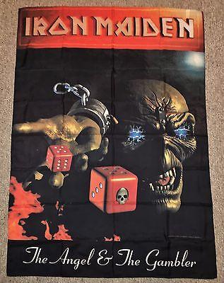 Iron Maiden 1998 Flag Rare VTG Tapestry Tour Banner Poster t-shirt tix guitar