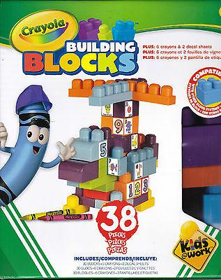 Abc Building Blocks (CRAYOLA BUILDING BLOCKS 38Pc Learn ABC123 Fun Play Game Boy Girl EDUCATIONAL)