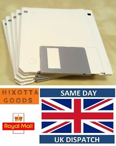 """10x HD 2MB/1.44MB 3.5"""" F Disk 2HD DS-HD Floppy Disc Unformatted White"""