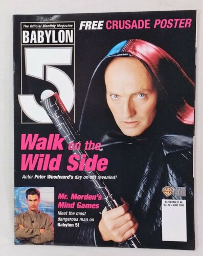Babylon 5 Magazine #12 6/1999 B5 Peter Woodward as Galen Cover & Poster