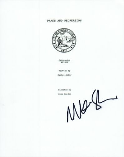 Mike Schurr Signed Autographed PARKS AND RECREATION Canvassing Script COA VD