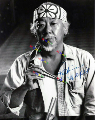 PAT MORITA Mr. Miyagi Autographed Signed 8x10 Photo Reprint