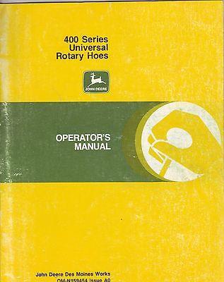John Deere 400 Series Universal Rotary Hoes Manual