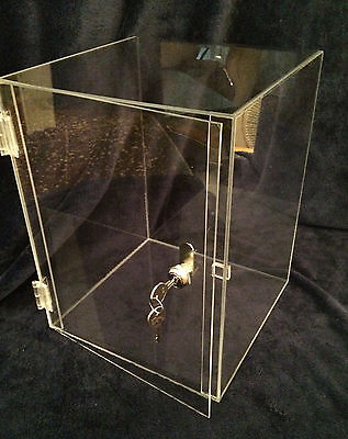 Summer Special Acrylic Countertop Display Case 10x10x16.5 Revolve Avail