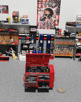 """1:18 """"Toy""""  GMP ( Tool Cabinet Only ) Red Cabinet for Garage Diorama"""