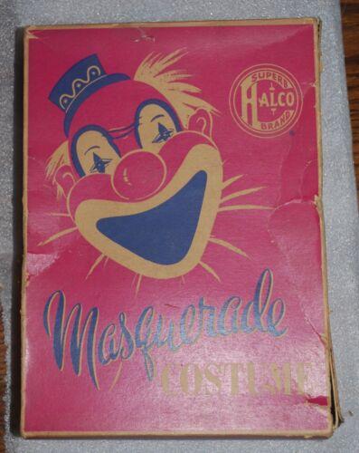 Vintage Halco Superb Masquerade Costume ?ICE DEVIL? CLOWN W/ Box - Halpern