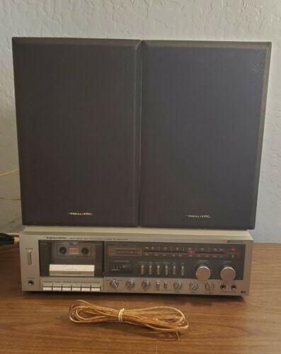 Vintage Realistic SCR-2500 STEREO/CASSETTE W/ 2 MC-800 40W SPEAKERS -SERVICED-