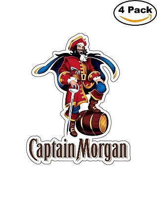 Captain Morgan Rum Alcohol Decal Diecut Sticker 4 Stickers