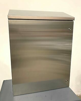 Rittal Wms363012n4 Wall Mounted Stainless Steel Enclosure Slope 30x12x35 Nema 4