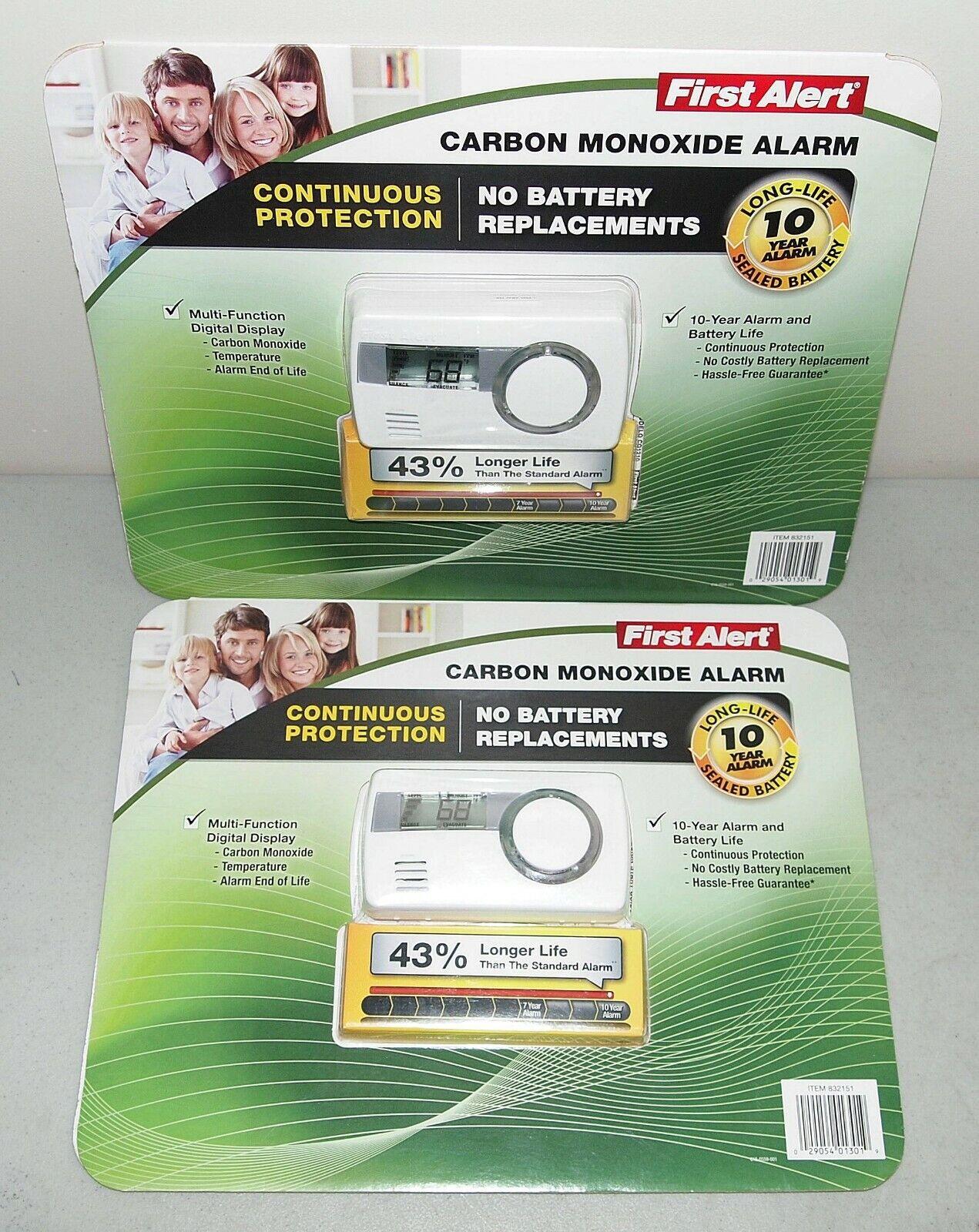 First Alert Carbon Monoxide Detector Alarm Long-Life 10 Year