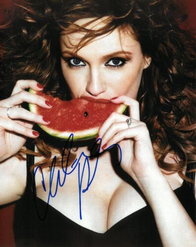 CHRISTINA HENDRICKS SIGNED 8x10 PHOTO PROOF COA AUTOGRAPHED MAD MEN
