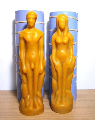 3D silicone male female figure Mold pillar candle soap mould pagan wicca chakra