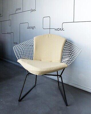 Fauteuil Diamond chair Knoll 421 vintage Black & White Harry Bertoia Mid-Century