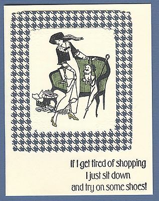 Shop Handmade Cards (Shoes 'Tired of shopping...' Fashion Notecards (4 Cards)     #43   )