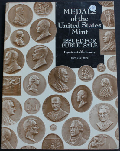 Vintage Book Medals Of The United States Mint 1972 Illustrated Reference