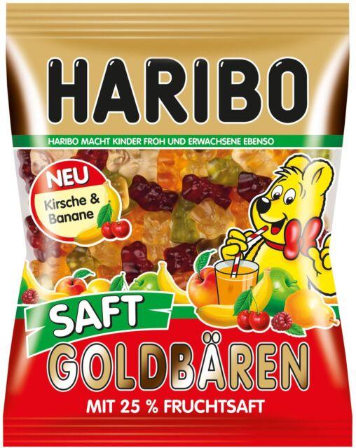(100g=0,57€) Haribo Saft Goldbären mit Kirsch & Banane - Fruchtgummi - 175g