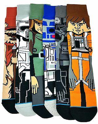 New Stance Mens Star Wars Socks One Pair Luke Skywalker R2d2 Ewok Stormtrooper