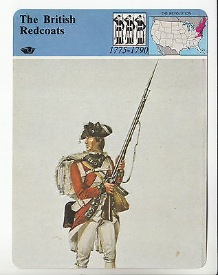 THE BRITISH REDCOATS Revolutionary War Uniform History STORY OF AMERICA CARD - Redcoats Uniform