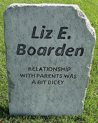 Halloween 'Liz E. Boarden' tombstone prop graveyard decoration 24