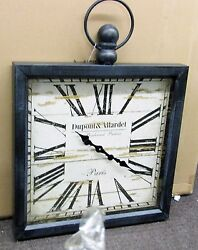 LARGE GALLERY SQUARE WOODEN WALL CLOCK 32 X 24  POCKET WATCH STYLE 52517