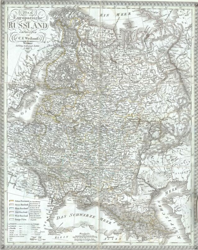 1827 Weiland Map of European Russia