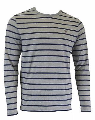 Gant Hombre Gris Breton Rayas Manga Larga Camiseta 254134 Talla M Nwt