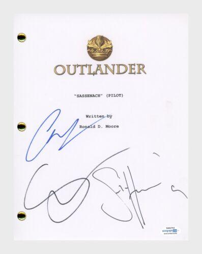 Outlander Cast Signed Pilot Script Sam Heughan Caitriona Balfe Skelton ACOA COA