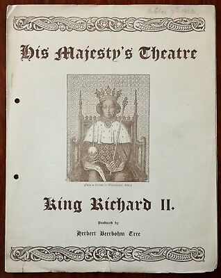King Richard II by Shakespeare, His Majesty's Theatre Programme 1903