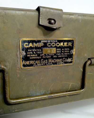 Vintage 1920s American Gas Machine Albert Lea Mn Camp Cooker Stove NICE RARE AGM