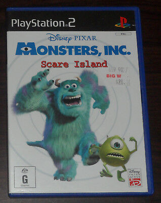 PS2. Monsters Inc Scare Island Disney Pixar (PAL EUR/AUS) (Monster Aus Monsters Inc)