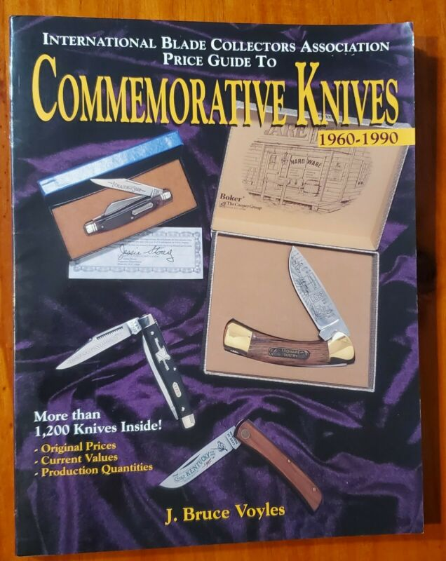 Autographed Price Guide Book to Commemorative Knives 1960 - 1990 by Bruce Voyles