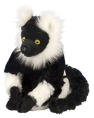 Lemur Stofftier (Wild Republic 12271 Stofftier Affe schwarz weiß Vari Lemur Daniel 20 cm)