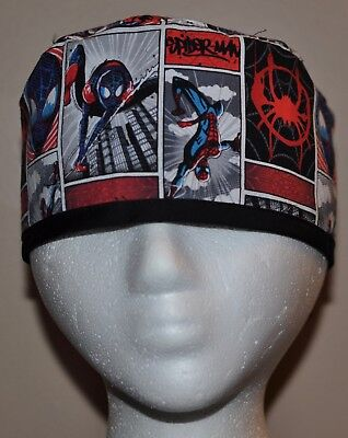 Newest Style!!! Men's Marvel Superhero/Spiderman Scrub Hat - One size fits most - Superhero Uniforms