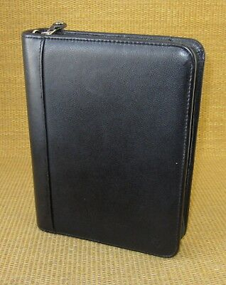 Classic 1.5 Rings Black Leather Franklin Covey Zip Plannerbinder Usa