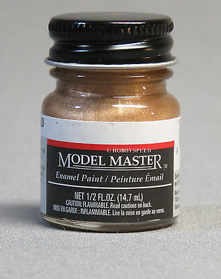 TESTORS PAINT MODEL MASTER GOLD ENAMEL 1/2oz 14.7ml  NEW 1744