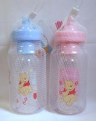Baby Gift Set WINNIE THE POOH Sesame Street Bank Bottle Brush Pink Blue 3 piece ()