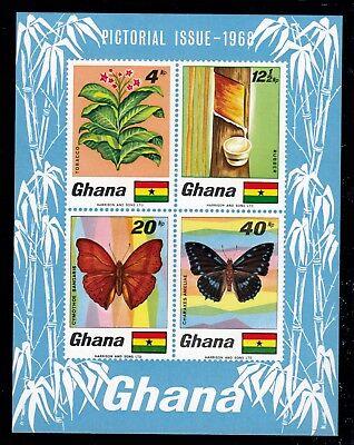 Ghana Bl. 31 **, Pflanzen-Schmetterlinge