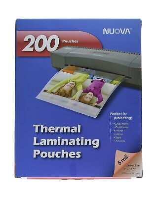 Nuova 200-pack 5 Mil Thermal Laminating Pouches 9 X 11.5 Inches Letter Size...