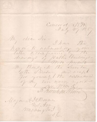 Franklin Pierce handwritten letter just months after leaving office