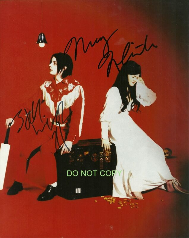 "The White Stripes band duo Reprint Signed 8x10"" Photo #1 RP Jack & Meg White"