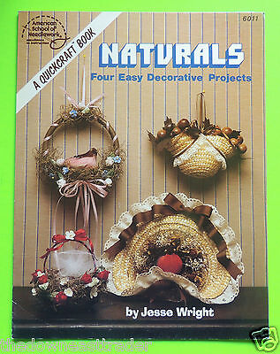 Naturals 4 Easy Decorative Projects Spring Ring Harvest Basket Nest Hat & Home