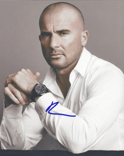 DOMINIC PURCELL SIGNED AUTHENTIC 'PRISON BREAK' 8X10 PHOTO w/COA ACTOR THE FLASH