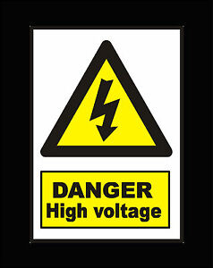 Danger High Voltage Hazard Safety Warning Sign Sticker