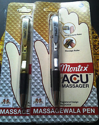 Montex Acu Massager 2 Ball Pen Sets Whole Sale Price Free Sh